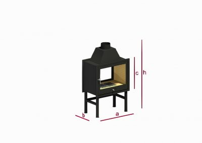 Two-sided and three-sided fireplace RK2T