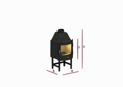 Circular fireplace KK1m