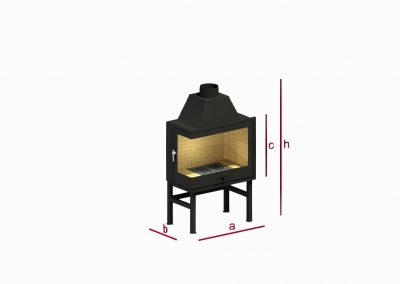 Angular fireplace RK2A