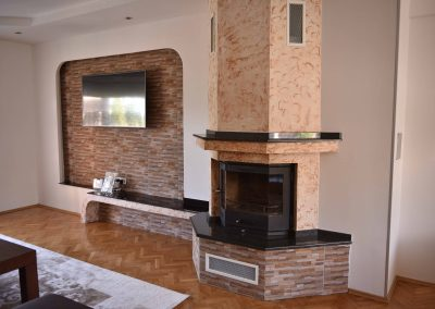 Trapeze fireplace TK1
