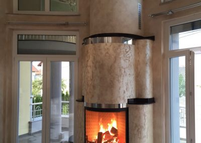 Circular fireplace KK2