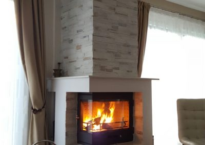 Angular fireplace RK1A